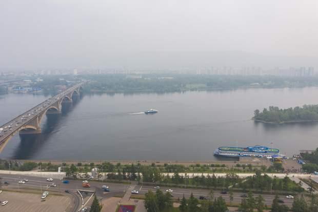 смог пожежа Красноярськ