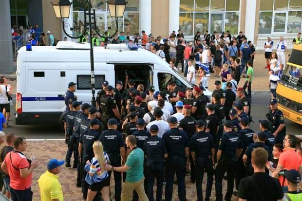 Одеса Суперкубок футбол поліція затримання вболівальники