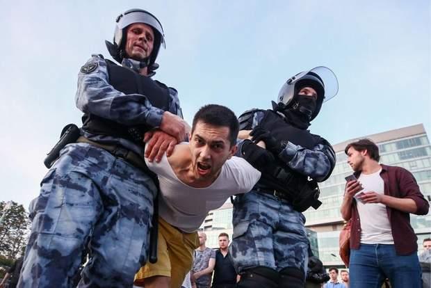 Москва протести вибори 27 липня 2019 фото придушення протестів розгін ОМОН