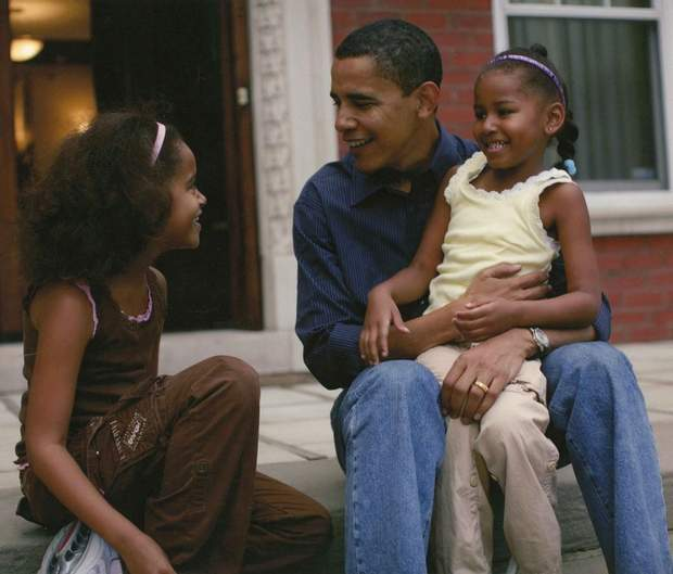 Барак Обама з дітьми