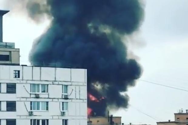 пожежа москва