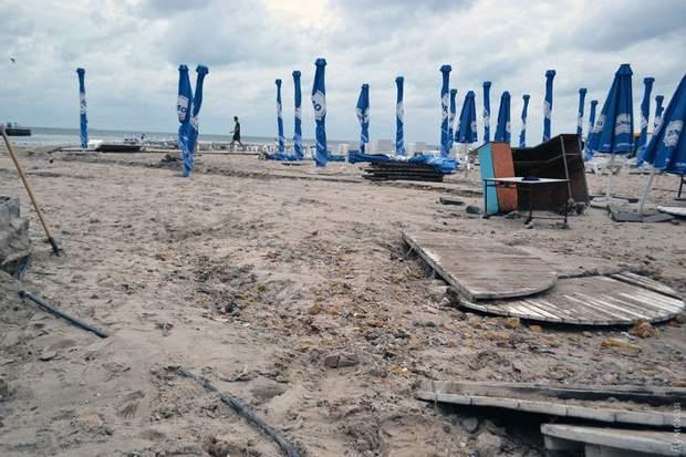 негода Одеса пляж