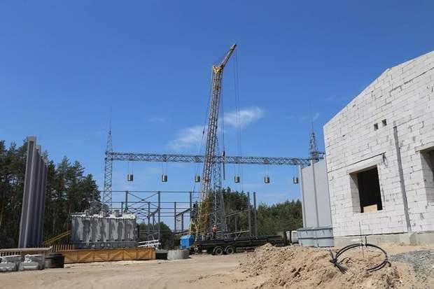 Будівництво на Кремінській підстанції