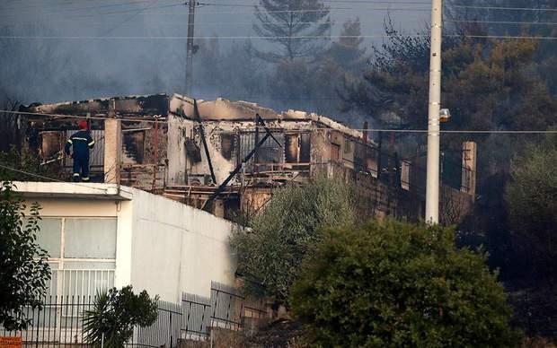 пожежа греція афіни ліс будинок пошкодження