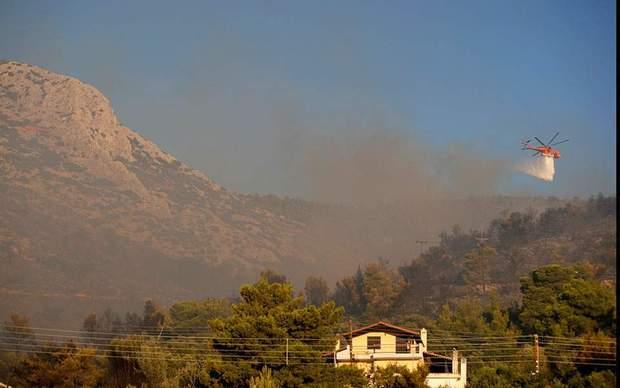 греція пожежа вертольоти афіни