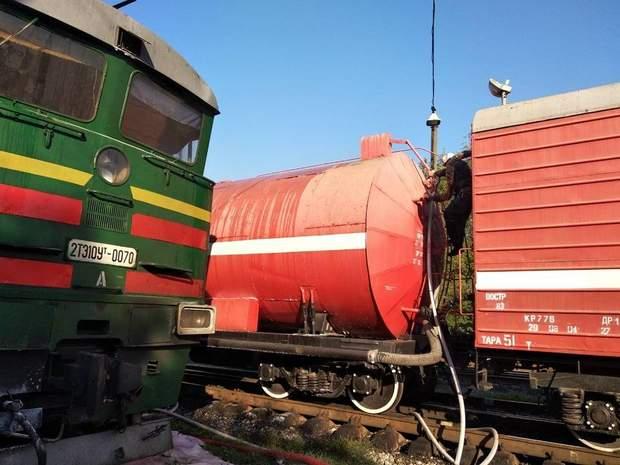 Пожежа локомотива у Миколаєві