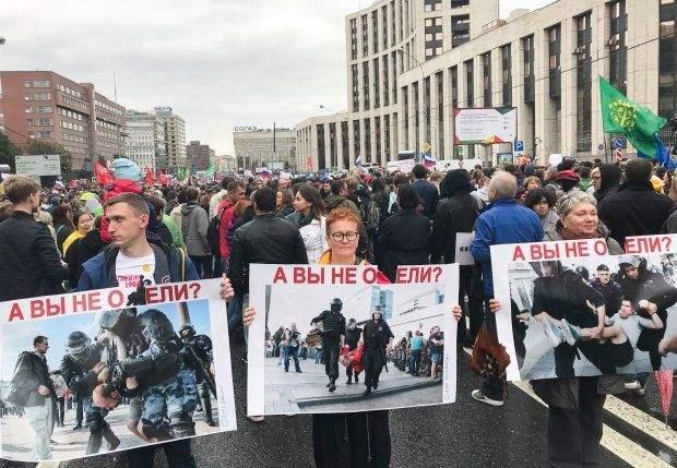 митинги в москве путин песков