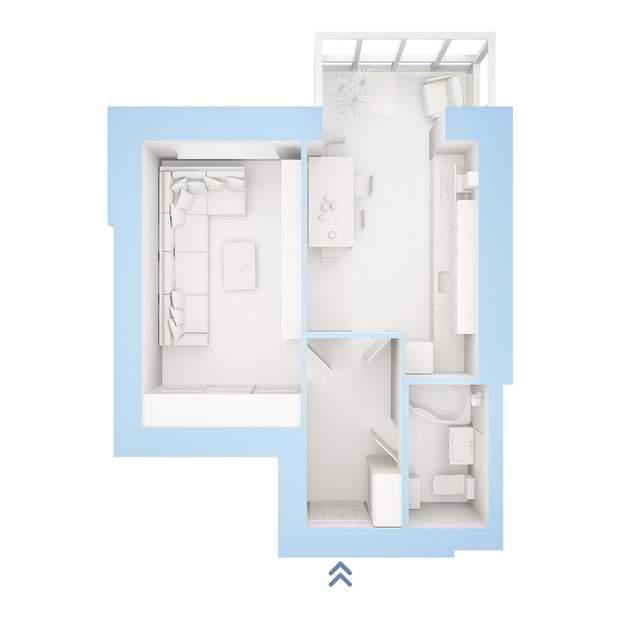 план 1 кімнатна квартира ЖК Фаворит