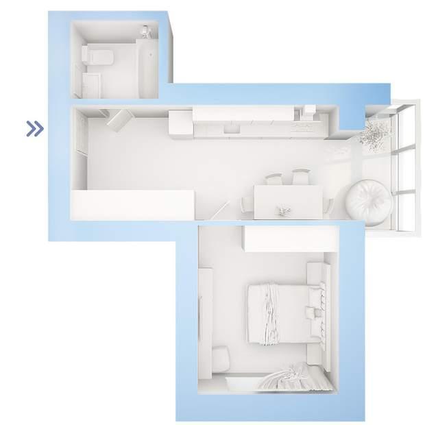 планування 1 кімнатна квартира ЖК Фаворит