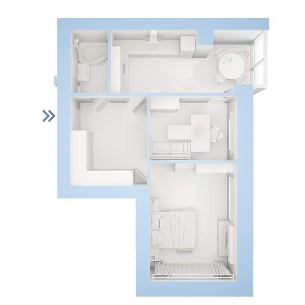 планування 2 кімнатна квартира ЖК Фаворит