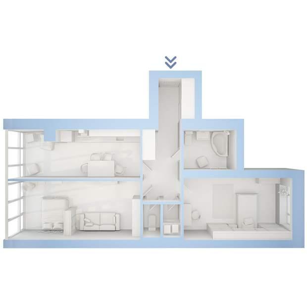 приклад планування 2-кімнатна квартира ЖК Фаворит
