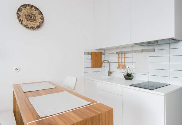 смарт квартира студія кухня дизайн