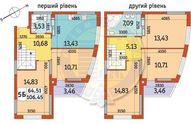 ЖК Райдужний Київ Київміськбуд 5к квартира схема планування