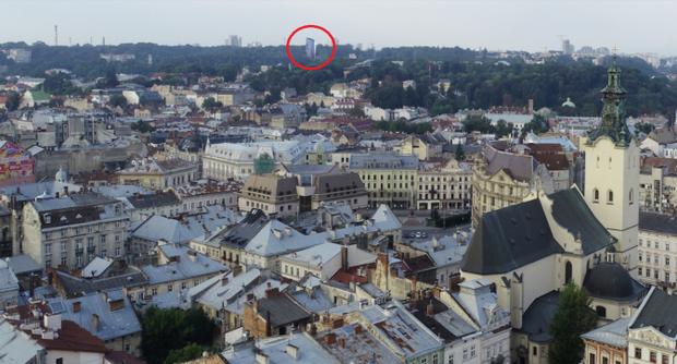 Львів панорама готель Хілтон