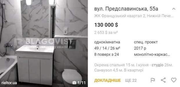 квартира студія ціна Київ