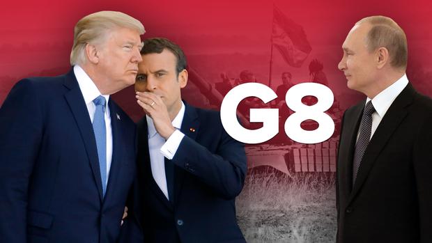 Володимир Путін G7 G8 Макрон Трамп