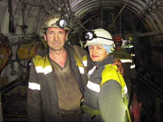 Сімейна пара шахтарів