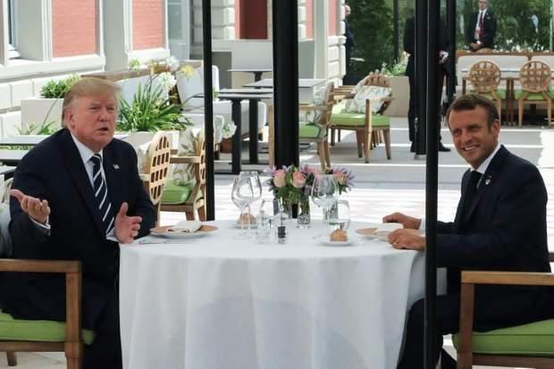 Дональд Трамп та Еммануель Макрон