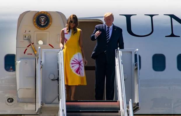 Дональд і Меланія Трамп у Франції