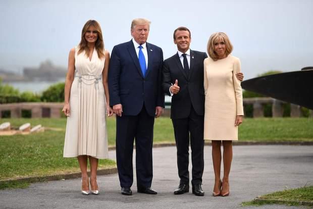 Президенти США і Франції з дружинами