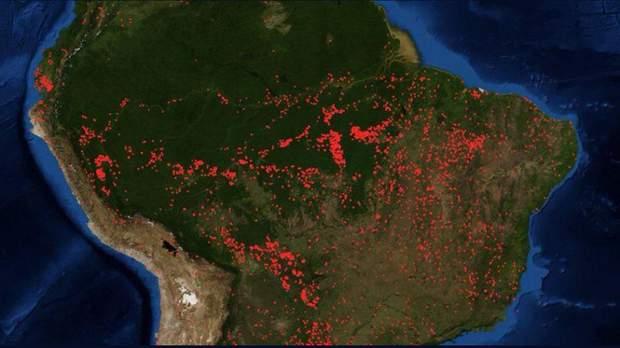 Бразилія пожежі