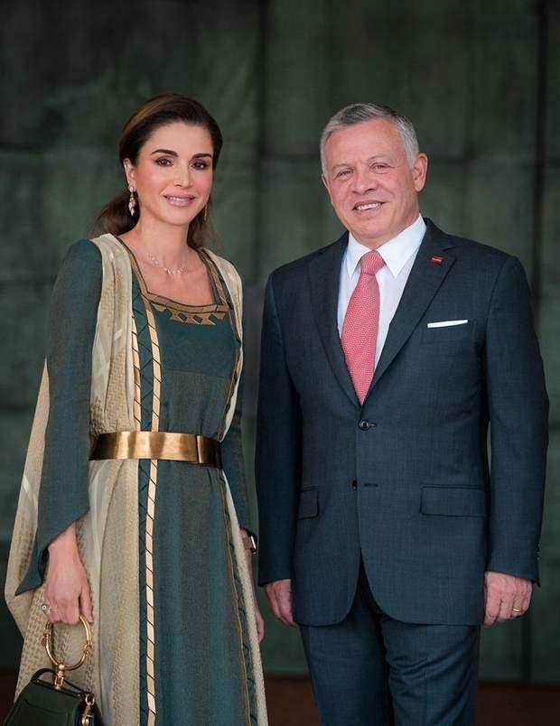 Офіційне фото короля і королеви Йорданії