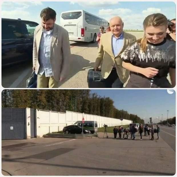 Вишинський Кисельов Скабеєва аеропорт зустріч
