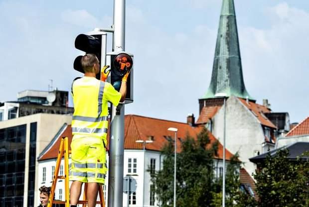 вікінги світлофори Данія
