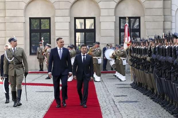 Зеленский Дуда Польша встреча фото