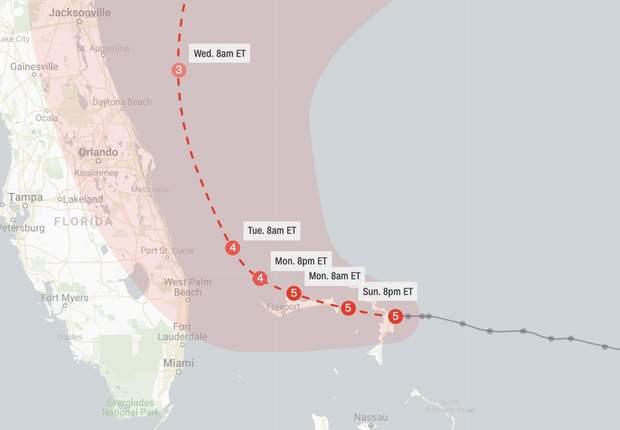 Ураган Доріан, США, Багами