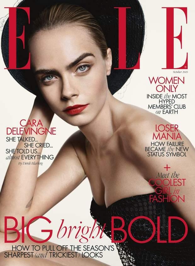 Кара Делевінь для Elle UK