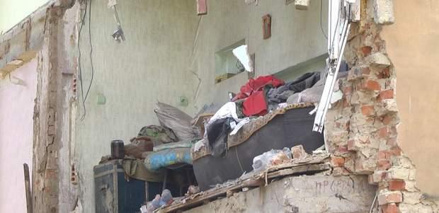 Обвалений будинок в Дрогобичі