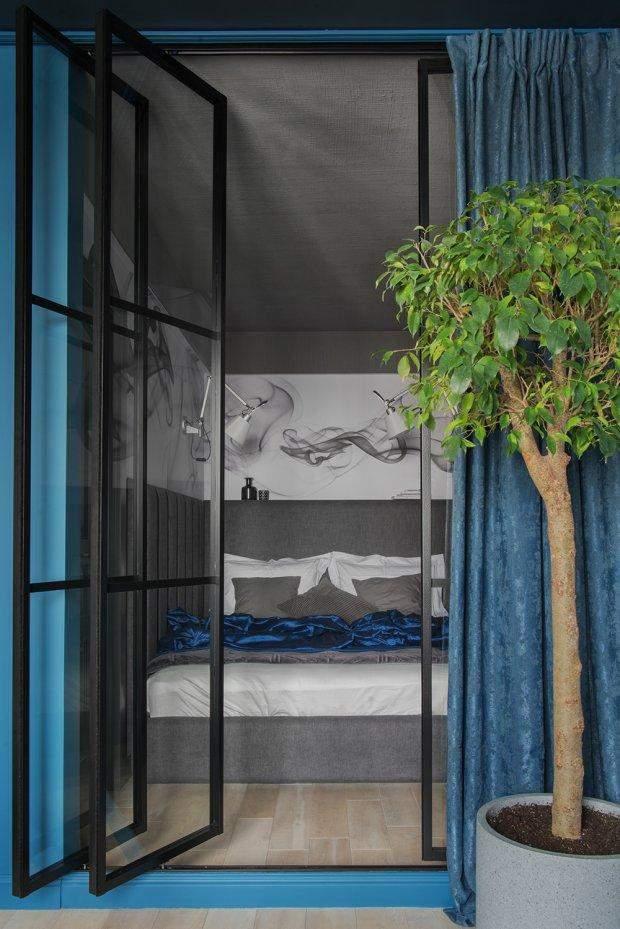 ліжко за ширмою дизайн