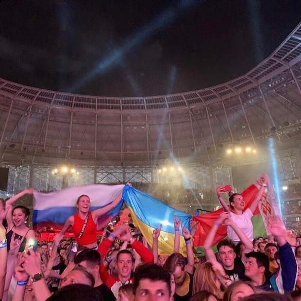 Український прапор підняли у Москві