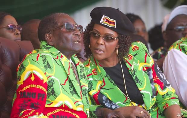 Роберт Мугабе з дружиною