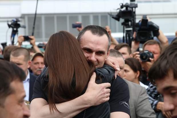 Олег Сенцов звільнення з полону фото