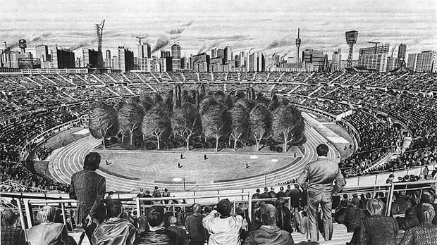 Макс Пайнтнер картина ліс стадіон