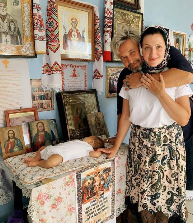 Сергій Бабкін з дружиною і сином