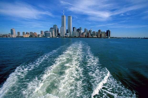 Нью-Йорк панорама вежі близнюки