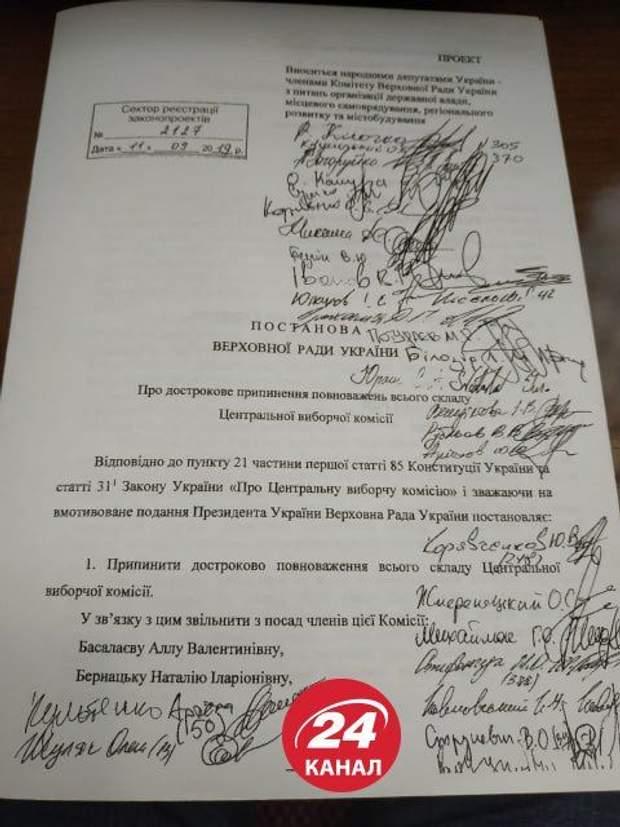 звільнення членів ЦВК, оновлення ЦВК