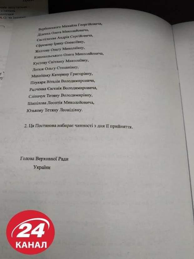 оновлення складу ЦВК, звільнення членів ЦВК