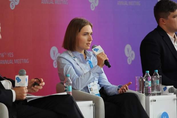Анна Новосад на форумі YES