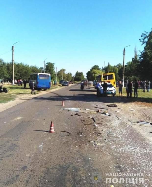 ДТП на Одещині з маршрутками