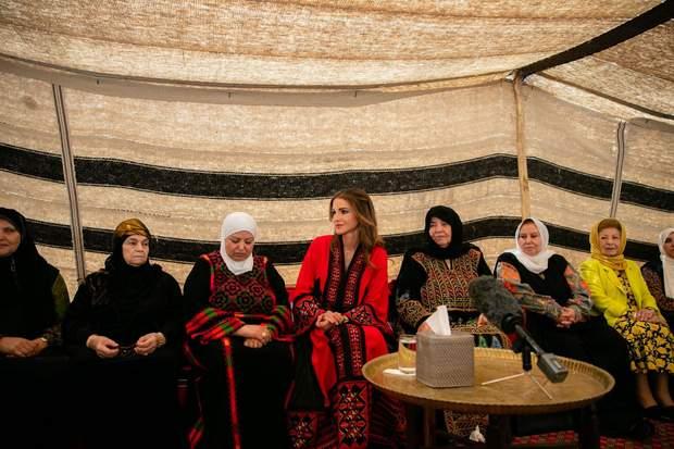 Королева Ранія в Аммані