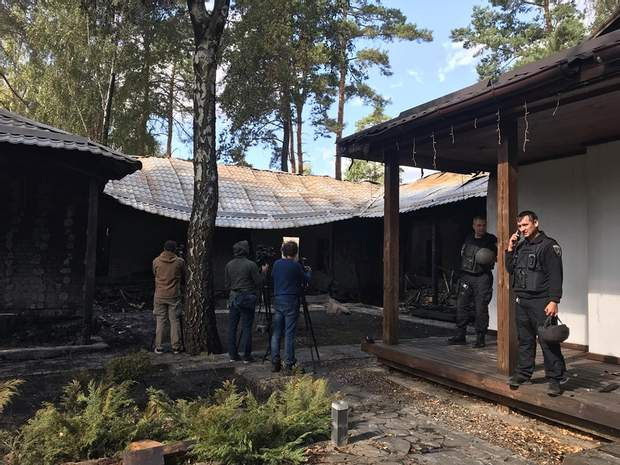 дім Гонтарева пожежа