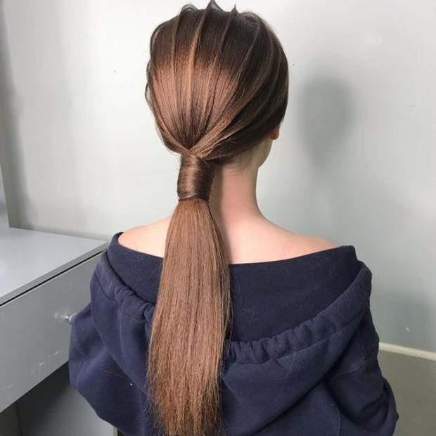 Хвіст – чудова альтернатива зачіскам, які потребують багато часу