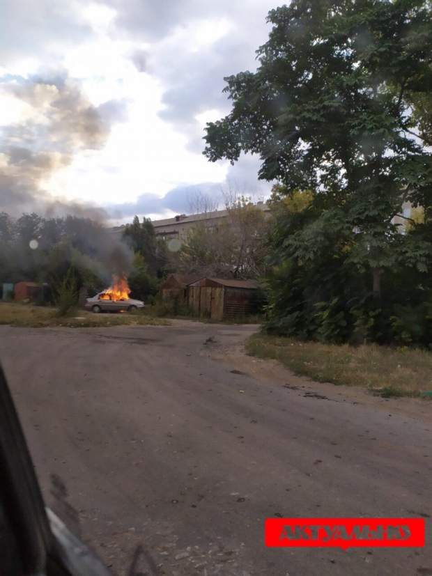 У Якимівці спалена автівка вбивць заступника голови ОТГ