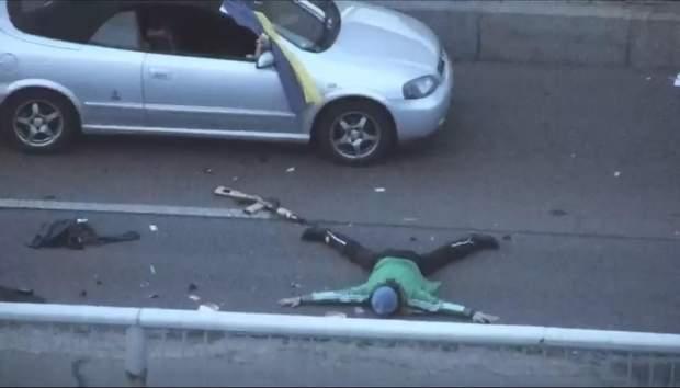Мінування мосту в Києві
