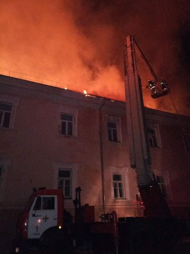 пожежа Луцьк військовий госпіталь