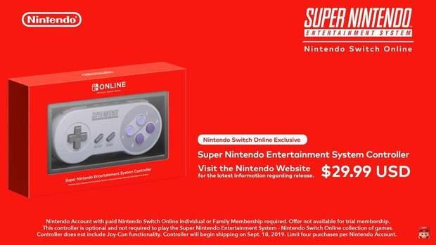 Ретро-геймпад Super Nintendo